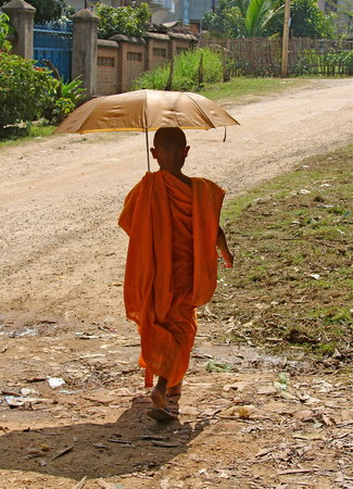 Мьянма: Young monk in Bagan