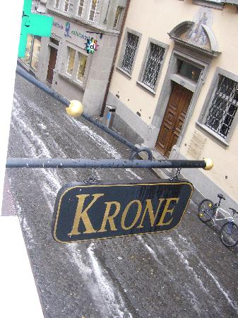 Hotel Krone Luzern: View from our room