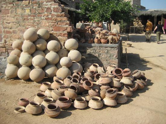 Rajasthan, India: Clay Pots, CoVillage outside Jodphur