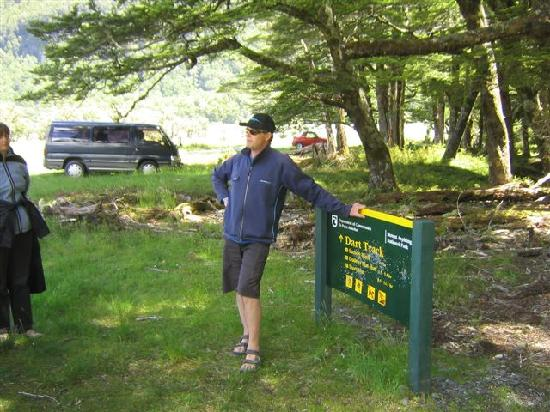 Dart River: Iain telling us about the forest