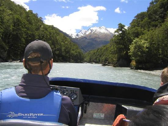Dart River - Wilderness Jet: heading up the Dart river