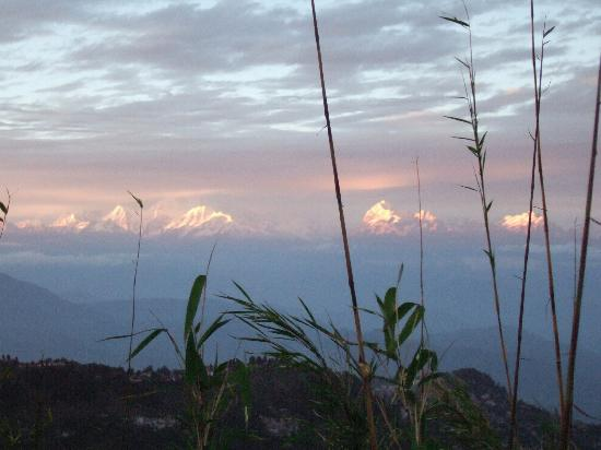 Kosi Zone, Népal : Sunset over Kanchenjunga, Himalaya
