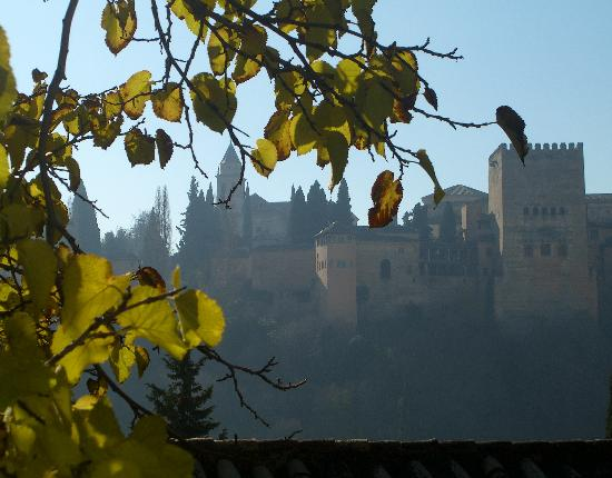 Carmen de la Victoria : View of Alhambra on a December Day