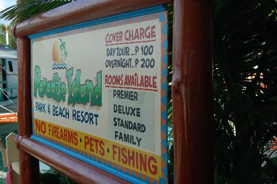Paradise Island Park Beach Resort Menu