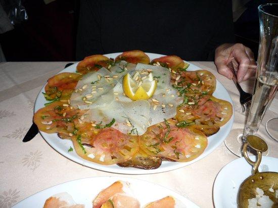 Ristorante La Giostra: Carpaccio di melanzane appetizer