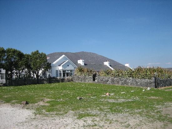 Bervie: Blick auf's Haus vom Strand