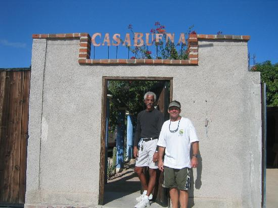 Casabuena Bed and Breakfast: Owner at entry gate