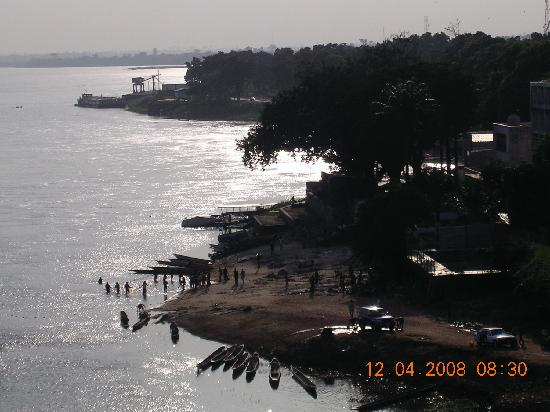 Hotel Oubangui: As the sun was going down - from the Oubangui
