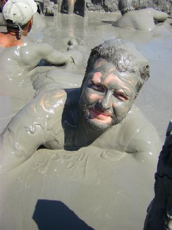 Volcan de Lodo El Totumo (Mud Volcano) : Mud bath and massage at one of the volcano's mud craters