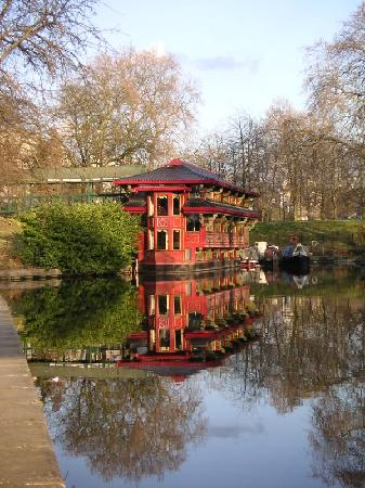 London, UK: chinese restaurant on regents canal, camden