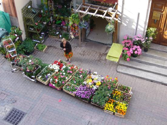 Hotel Central : The florist is open for business (view from room)