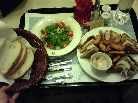 Club Sandwich with Small Salad