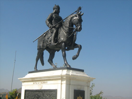 Udaipur, India: Statue of Maharana Pratap