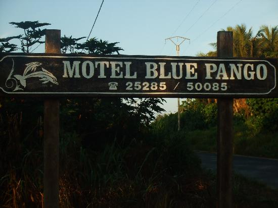 Blue Pango Motel: The sign to look out for to know where it is
