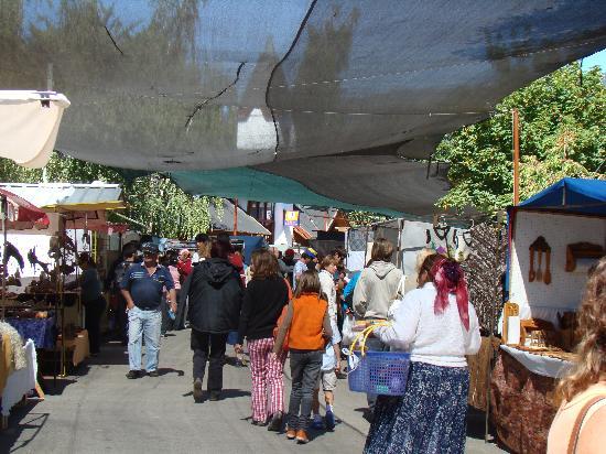 El Bolson, Argentina: Feria de artesanos en El Bolsón