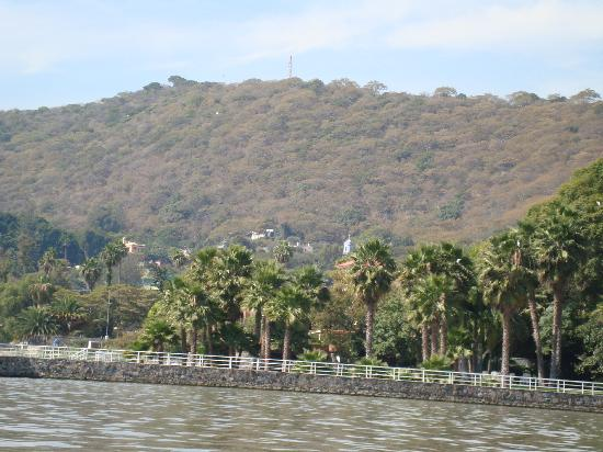 Lago de Chapala: The Mountains as seen from boat on Lake Chapala