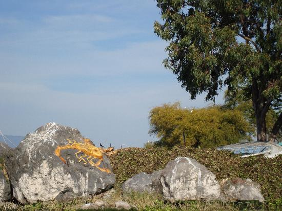 Jalisco, Meksika: The Scorpion Rock on Scorpion Island Lake Chapala
