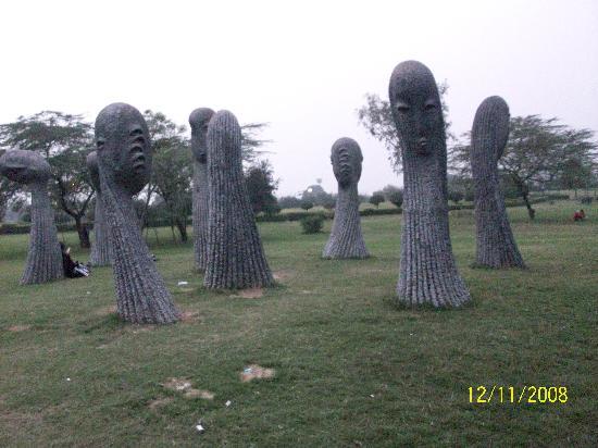 Vishwa Shanti Stupa: ..stone sculpture at the park