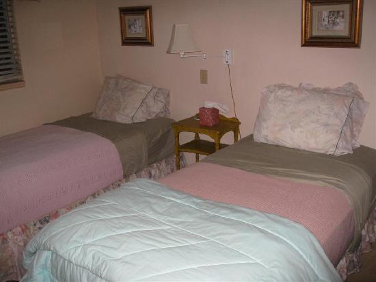 Aloha Bed & Breakfast : twin room, door to bed