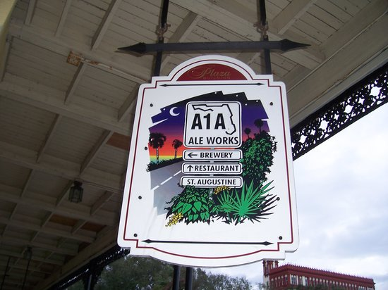 A1A Ale Works: A1A sign