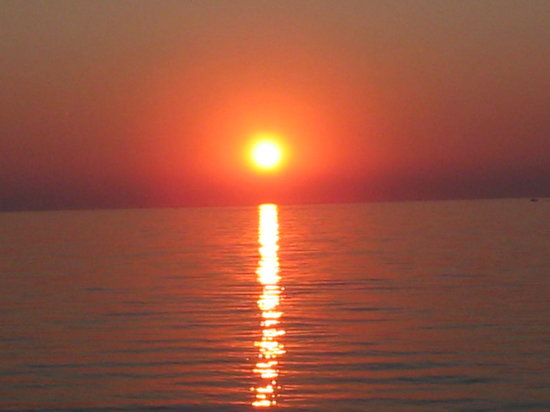 Салоники, Греция: Sun set at Thessaloniki Agia Triada