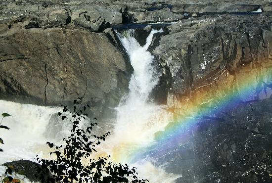 a cascade at grand falls with its rainbow picture of. Black Bedroom Furniture Sets. Home Design Ideas