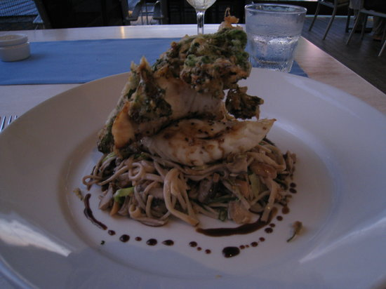 On The Inlet : One of the Barramundi main dishes from our meal