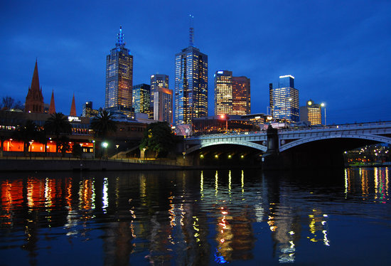 Мельбурн, Австралия: Melbourne CBD at dusk