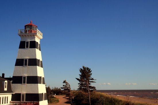 West Point, Canada: Lighthouse with Strait of Northumberland