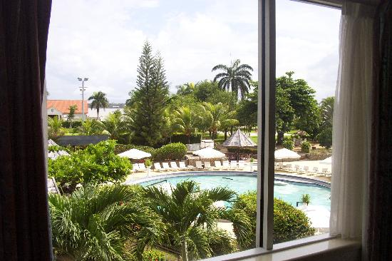 Torarica Hotel & Casino: View of pool from room.