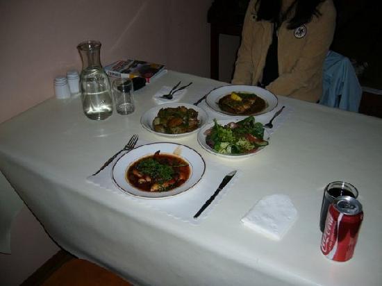 Cyrano Restaurant: Our feast