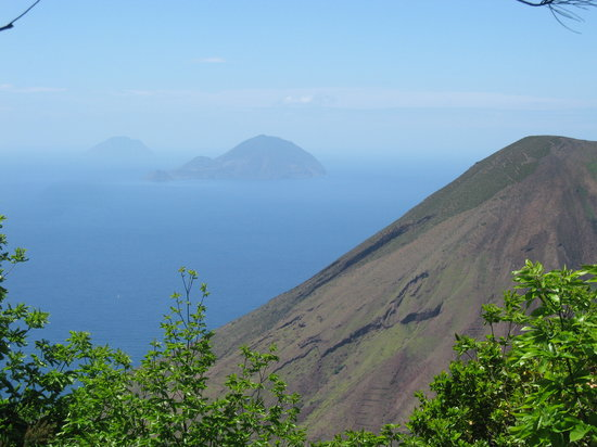 Aeolian Islands, Italy: View from our walk on Salina