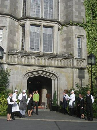 Adare Manor: Staff greeting guests