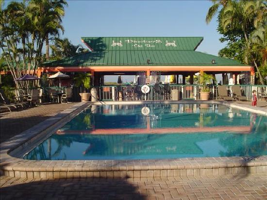 View Of Tiki Bar From End Of Pool Picture Of Wyndham Garden Fort Myers Beach Fort Myers Beach