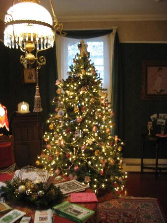 Linda Lee Bed and Breakfast: Christmas Tree in the Living Room