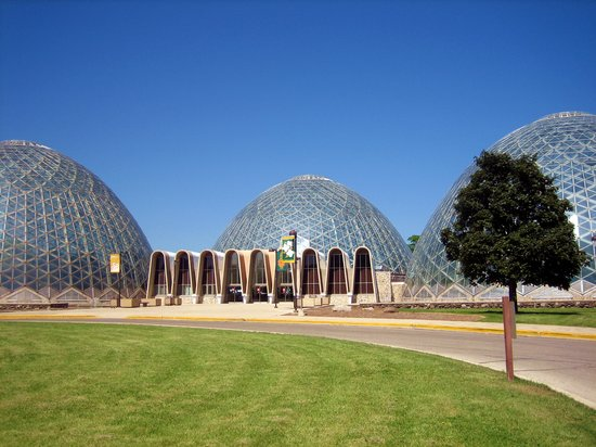 Mitchell Park Horticultural Conservatory (The Domes): Exterior View of Domes