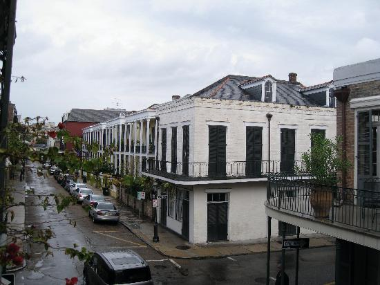 Soniat House: view from balcony looking away from French quarter