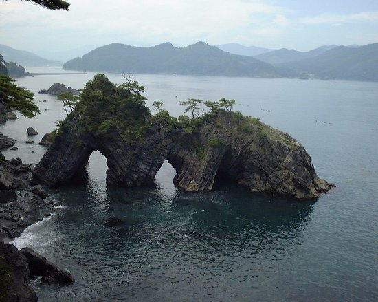 Ofunato, Japan: 展望台からの眺め