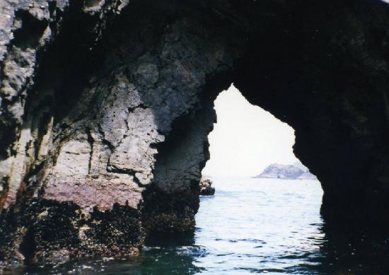 Ofunato, Japón: 船で穴にアプローチ