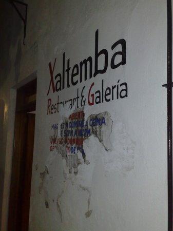La Peñita de Jaltemba, Mexico: Xaltemba's hand-painted sign
