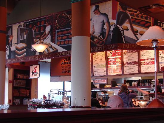 Corner Bakery Cafe: Order here