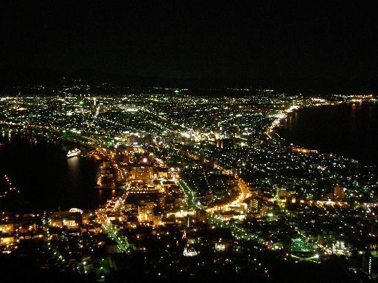 Mount Hakodate: 函館山から市内の夜景