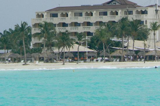 Bucuti & Tara Beach Resort Aruba: View of Tara Suites from Deep Sea fishing boat