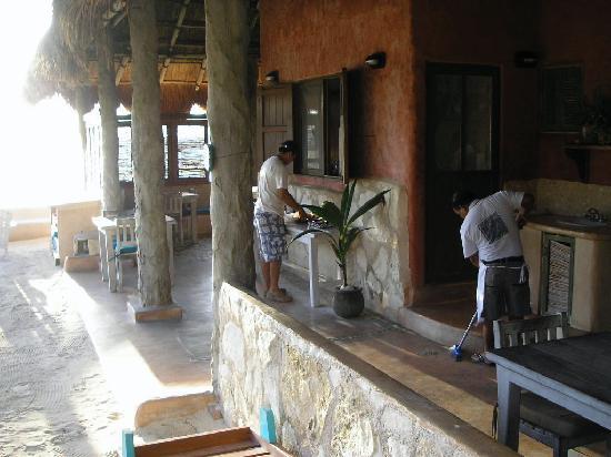 Hotel CalaLuna Tulum: Breakfast Hut