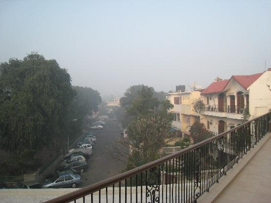Ahuja Residency Golf Links : View from upper porch/balcony