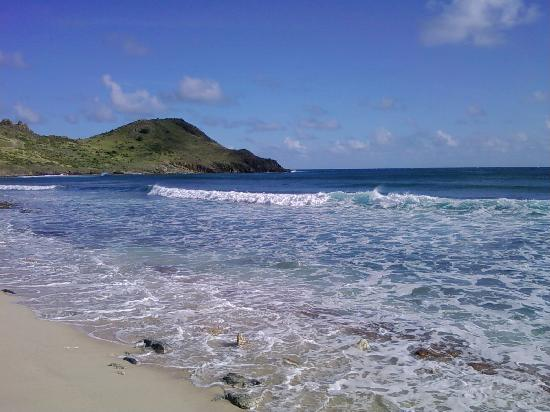 Secluded Beach On South Side Of Island Foto Saint