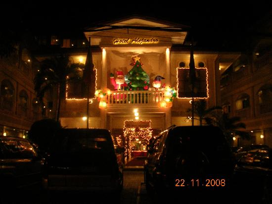 Hotel Alejandro: Christmas atmosphere (Alejandro by night)