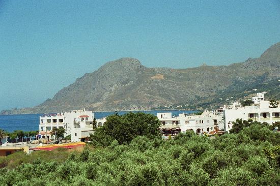 Hotel Lofos: Blick vom Zimmer auf Plakias