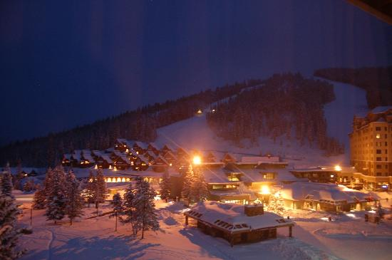 Big Sky Resort Village Center: Nighttime view from room