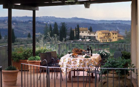 Agriturismo La Canigiana: la terrazza - terrace
